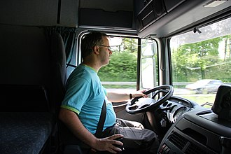 Truck driver - A truck driver at work