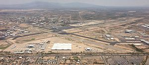 Tucson International Airport - Image: Tucson Airport from the sky, July 2013