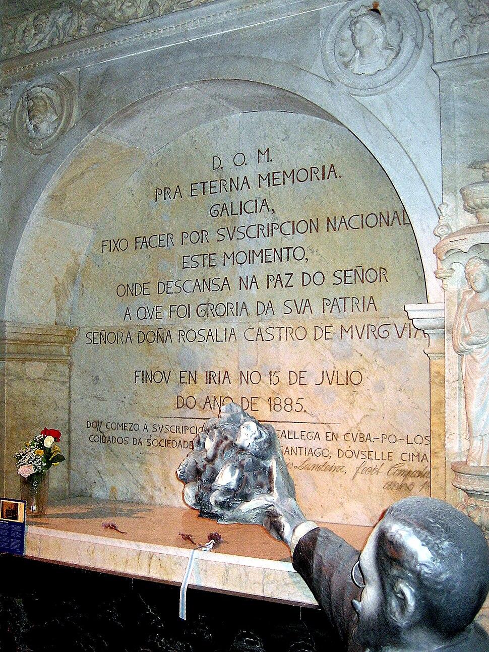 Tumba de Rosalía de Castro. Convento de San Domingos de Bonaval 2