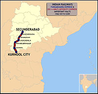Tungabhadra Express and Intercity Express (SC - KNLT) Route map.jpg