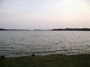 Lake Tuusula - View to south from Tervanokka, Järvenpää.