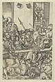 Two prints- The Crucifixion on recto and Christ Bearing the Cross on verso, from The Passion MET DP841862.jpg