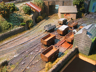 5.5 mm scale - A scene from Francis Stapleton's 5.5mm layout, Ty Bach