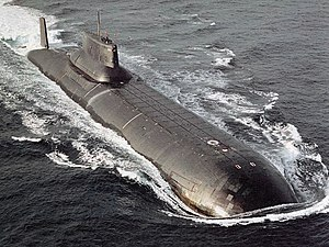 The Hunt for Red October (film) - Typhoon-class submarine, the same type as the fictional Red October.