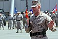 U.S. Marine Corps Sgt. Maj. Troy E. Black gives a speech after accepting the noncommissioned officers sword appointing him as the new sergeant major for the 11th Marine Expeditionary Unit during a post 130516-M-BZ222-010.jpg