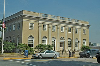 National Register of Historic Places listings in Anson County, North Carolina - Image: U.S. POST OFFICE, WADESBORO, ANSON COUNTY, NC