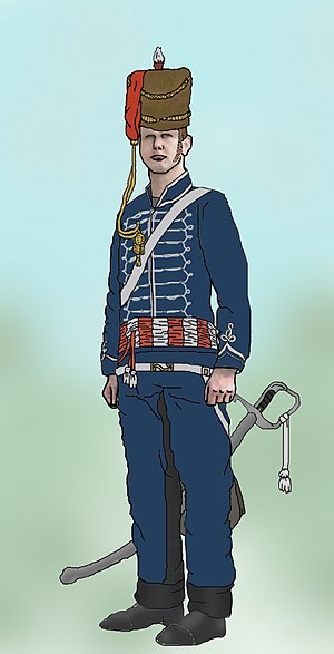 7th Queen's Own Hussars - Uniform of the 7th Hussars, c.1815
