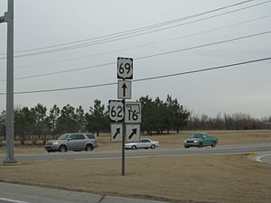 U.S. Route 62 in Oklahoma - US-62 and US-69 in Muskogee