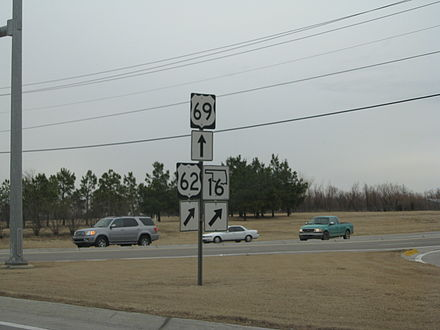 US-62 and US-69 in Muskogee US-62 69 Muskogee.jpg