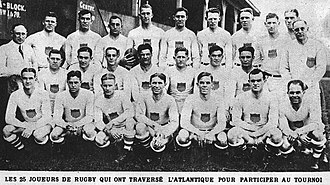 United States national rugby union team - The USA team that won gold in the 1924 Summer Olympics in Paris.