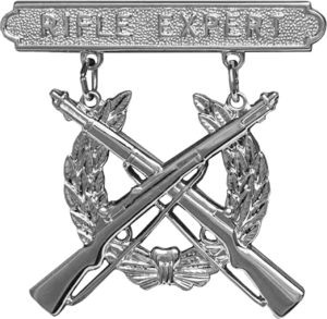 Ronald L. Green - Image: USMC Rifle Expert badge