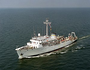 Silas Bent-class survey ship - Image: USNS Elisha Kent Kane (T AGS 27) underway in 1984