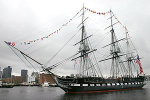 Original six frigates of the United States Navy - Image: USS Constitution Departs