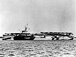 USS Hoggatt Bay (CVE-75) at anchor, circa in 1945 (UA 571.23).jpg