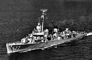 USS Sproston (DDE-577) underway in 1958.jpg
