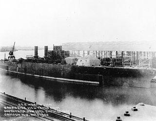 USS <i>Washington</i> (BB-47) unfinished battleship launched 1921 sunk 1922