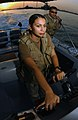 US Navy 030928-N-4943L-002 Quartermaster 2nd Class Carolina Castanon maneuvers her craft.jpg