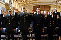US Navy 071217-N-8273J-140 During a tri-service commissioning ceremony, 35 Purdue University graduates take the oath in becoming commissioned officers.jpg
