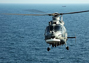 Eurocopter AS565 Panther - Panther in flight; note the disc-shaped ASW array under the nose