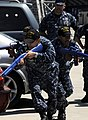 US Navy 100624-N-2918M-051 Sailors assigned to the force protection training team of the aircraft carrier USS Nimitz (CVN 68) demonstrate how to properly advance in dangerous situations.jpg