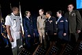 US Navy 110721-N-TT977-111 Chairman of the Joint Chiefs of Staff Adm. Mike Mullen, center left, greets the 2011 Military Times Service Members of t.jpg