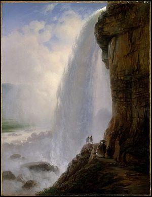 "Ferdinand Richardt - ""Underneath Niagara Falls"" by Richardt (1862) at the Metropolitan Museum of Art"
