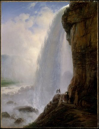 Ferdinand Richardt - Underneath Niagara Falls by Richardt (1862) at the Metropolitan Museum of Art