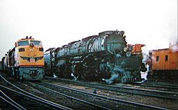 Union Pacific generation 2 GTEL and Big Boy locomotive 4022