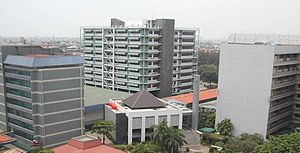 Trisakti University - University buildings at campus A, Jakarta