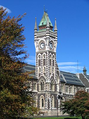 University of Otago - University clock tower