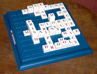 Upwords - Image: Up Words board in play