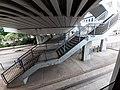 Up HK Tram 92 view 金鐘道 Queensway Admiralty cotton Tree Drive road footbridge stairs October 2019 SS2.jpg