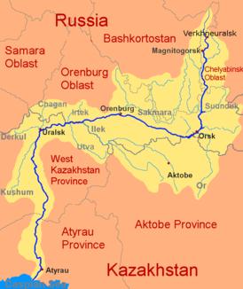ural karte Ural (Fluss) – Wikipedia