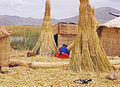 Uros Indian woman with red and blue clothing.jpg