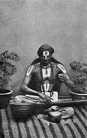 Hindu music - A Hindu musician, early 20th century
