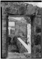 VIEW THROUGH PRIVY, THOUGH TO THE RIGHT - Sion Hill Estate, Privy, Centerline Road vicinity, Sion Hill, St. Croix, VI HABS VI,1-QUEEN,1-F-1.tif