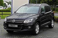 VW Tiguan Sport & Style 2.0 TDI 4MOTION BlueMotion Technology (Facelift) – Frontansicht, 24. Juni 2011, Velbert.jpg