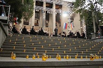 Valery Gergiev - Valery Gergiev's requiem concert in Tskhinvali. 21 August 2008.