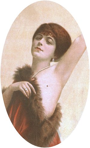 Actress Valeska Suratt in a poster for The Gir...