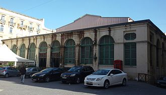 Is-Suq tal-Belt - The market hall in 2016, just before renovation