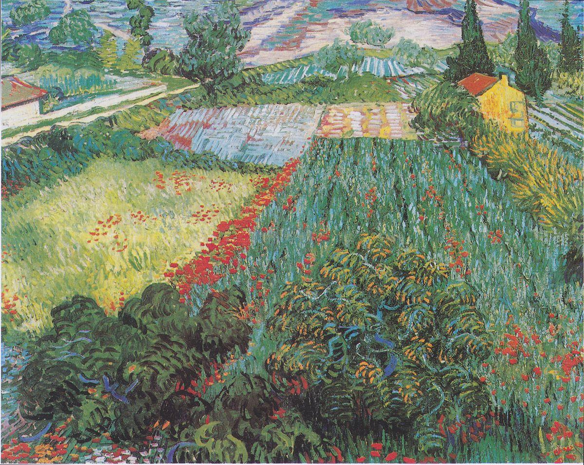 Archivo Van Gogh Feld Mit Mohnblumen Jpeg Wikipedia La Enciclopedia Libre