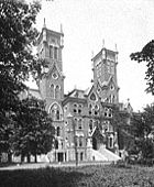 Old Main (1875), photographed before it burned in 1905