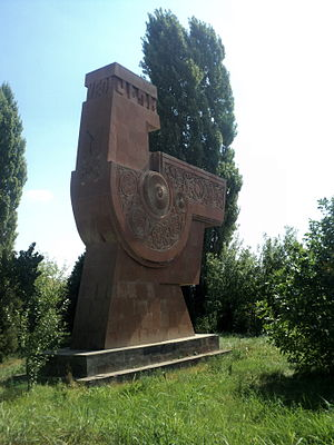 Vedi - The symbol of Vedi at the northern entrance to the town, erected in 1986
