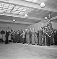 Veldhovens Fanfare-corps tijdens uitvoering in zaal met bovenlicht, Bestanddeelnr 255-8527.jpg