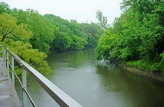 Coffeyville, Kansas - The Verdigris River at Coffeyville, 2006