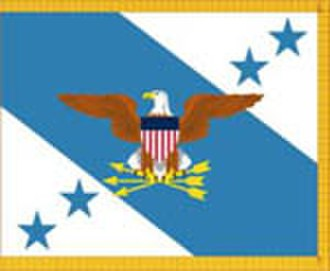 Vice Chairman of the Joint Chiefs of Staff - VCJCS flag with yellow fringe.