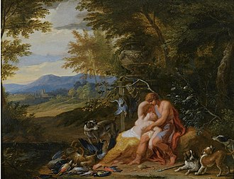 Victor Honoré Janssens - Venus and Adonis as lovers