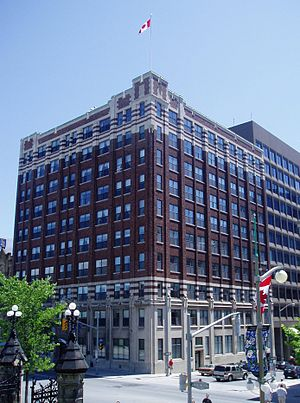 Victoria Building (Ottawa) - The Victoria Building at the corner of Wellington Street and O'Connor
