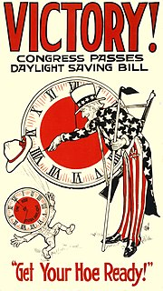 Retailers generally favor DST. United Cigar Stores hailed a 1918 DST bill.