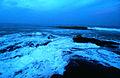 View at Bheemunipatnam beach after sunset.JPG